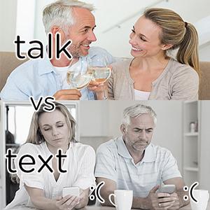 Talk vs text